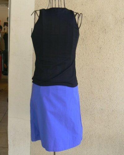 Jupe Zip, Bleu/vert, Saya, LaTribuDistrib.com (2)