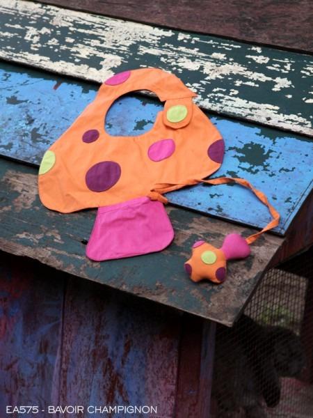 Bavoir champignon, Poudre de Perlimpinpin, www.LaTribu.shop