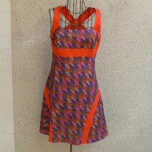 Robe courte Kali, Brick red, Kaliyog, LaTribuDistrib.com