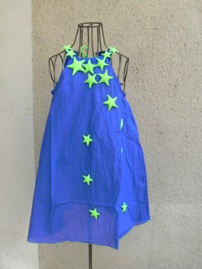 Robe voie lactée, Bleu, Poudre de Perlimpinpin, www.LaTribu.shop