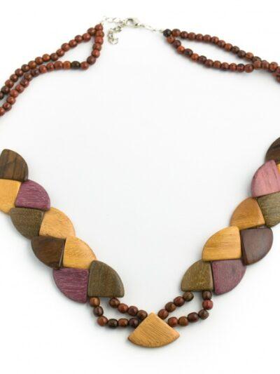Bijoux en bois, Collier Amazone, Multibois, LaTribuDistrib.com
