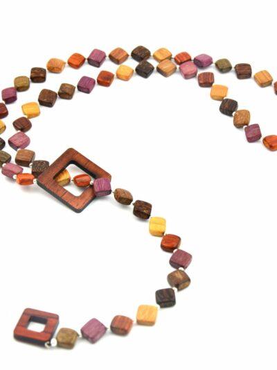 Bijoux en bois, Collier Camillia, Multibois, LaTribuDistribAK473