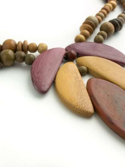 Bijoux en bois, Collier Osiris, Multibois, LaTribuDistrib1442