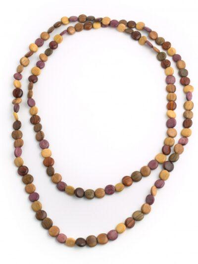 Bijoux en bois, Sautoir Diane, Multibois, LaTribuDistrib.com