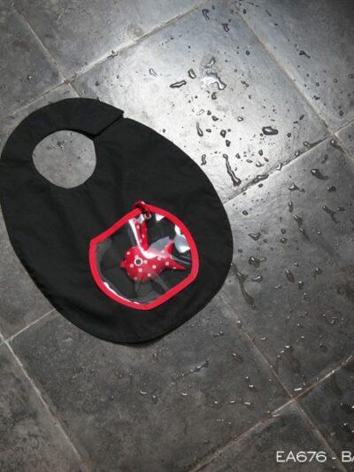 Bavoir aquarium noir, Poudre de Perlimpinpin, www.LaTribu.shop