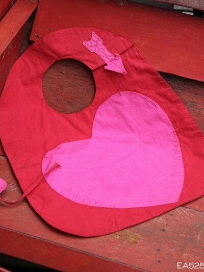 Bavoir coeur, Poudre de Perlimpinpin, www.LaTribu.shop