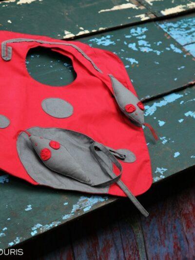 Bavoir souris, Poudre de Perlimpinpin, www.LaTribu.shop