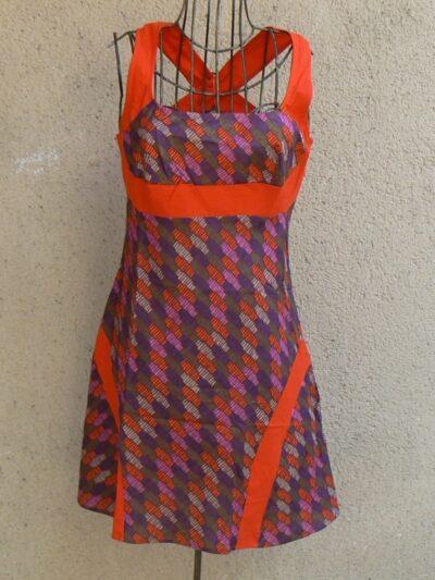 Robe courte Kali Kali Yog brique www.LaTribu.shop