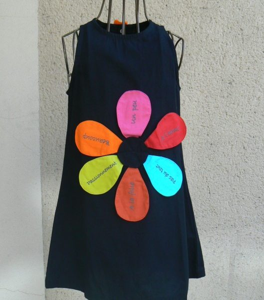 Robe je t'aime, Noir, Poudre de Perlimpinpin, www.LaTribu.shop