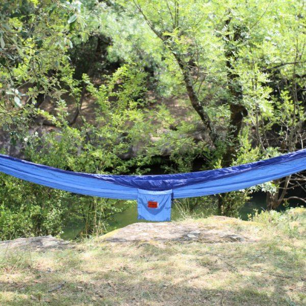 Hamac en toile de parachute , Ciel et Bleu www.latribu.shop