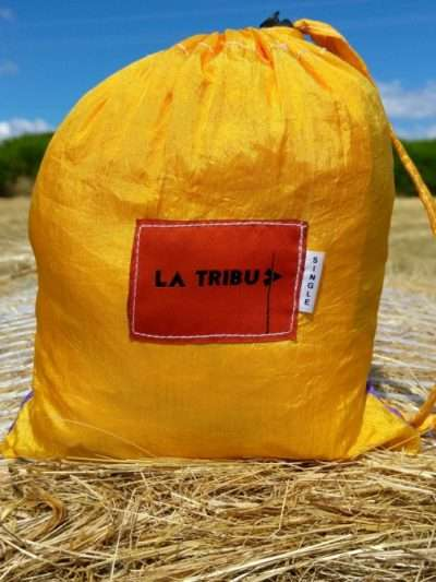 Hamac en toile de parachute, Jaune orange www.latribu.shop