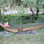 Hamac en toile de parachute, Kaki www.latribu.shop