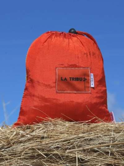 Hamac en toile de parachute, Orange jaune www.latribu.shop