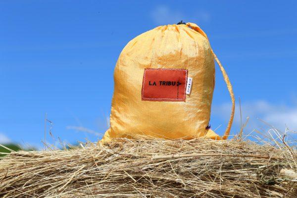 Hamac toile de parachute or et mauve www.LaTribu.shop