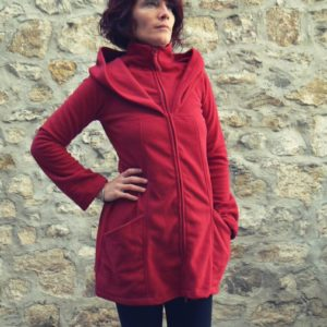 Veste tunique Monk red kaliyog www.latribu.shop