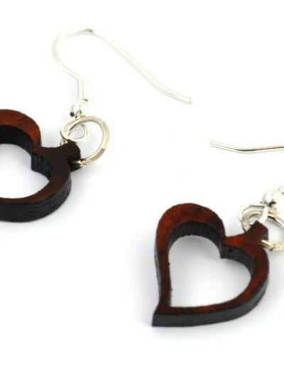 Boucles d'oreilles coeur, Amarante, www.LaTribu.shop (2)