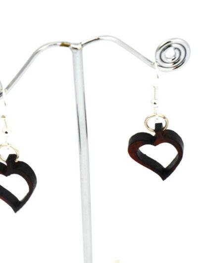 Boucles d'oreilles coeur, Amarante, www.LaTribu.shop