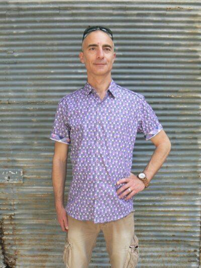 Chemise homme, Baisap, Graphique, Montre en bois Steve, www.LaTribu.shop