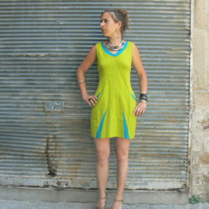 Robe Hibu, Lime, Kali Yog, www.LaTribu.shop