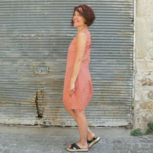 Robe Olive, Kali-Yog, Red dot, www.LaTribu.shop (2)