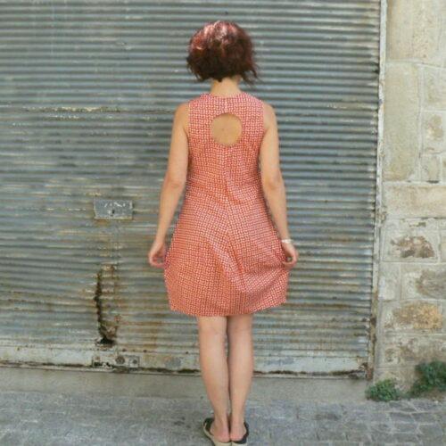 Robe Olive, Kali-Yog, Red dot, www.LaTribu.shop (3)