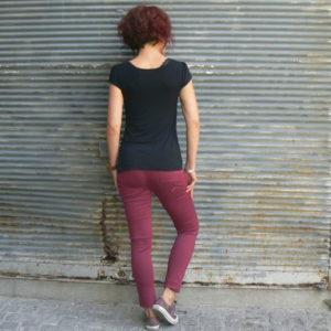 Pantalon Jikka, La Fiancée du Mékong, Prune, www.LaTribu.shop
