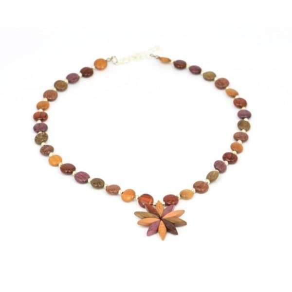 Collier Floriane, multibois, www.Latribu.shop