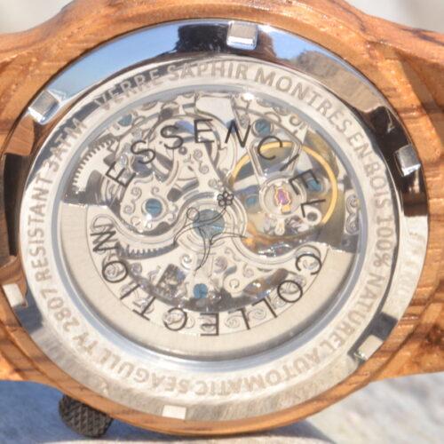 Montre en bois automatique Christopher, Zebrano et Palissandre, www.LaTribu.shop