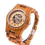 Montre en bois automatique Nellie, Zebrano, www.LaTribu.shop