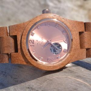 Montre en bois automatique Oceane, Chêne, www.LaTribu.shop
