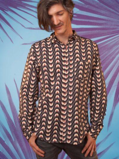 Chemise homme Kali Yog Mangui, Holi, www.LaTribu.shop