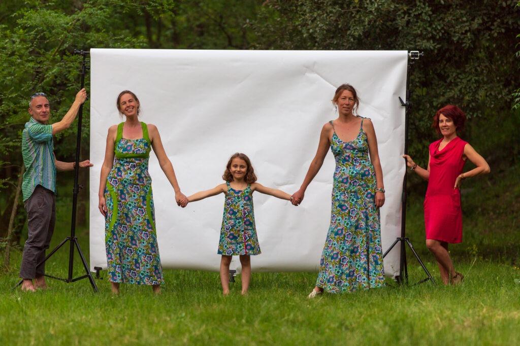 Robes Kali Yog, imprimé Japanese, Camping de La Surre, www.LaTribu.shop
