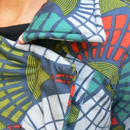 Manteau Kali Yog Garp, Green wax, www.LaTribu.shop