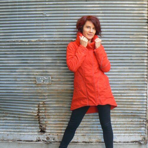 Manteau Kali Yog Cosmos, Red, www.LaTribu.shop