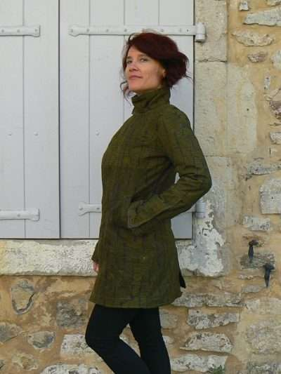 Manteau Kali Yog Nomad, Grey-lime, www.LaTribu.shop