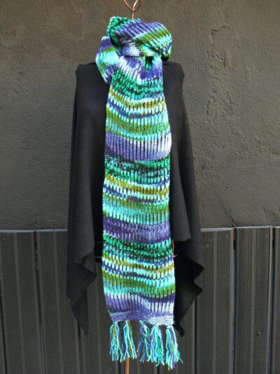 Écharpe hiver Kali yog multicolore, Blue, www.LaTribu.shop 2