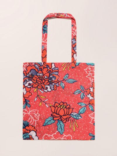 Tote bag, Java corail, La fiancée du Mékong, www.LaTribu.shop (1)