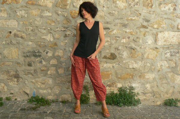 Pantalon Kali Yog Steph, Block red, www.LaTribu.shop 1