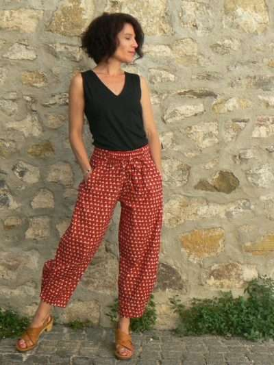 Pantalon Kali Yog Steph, Block red, www.LaTribu.shop