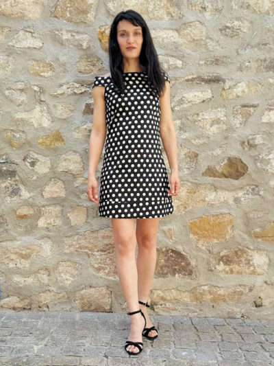 Robe Bla-Bla Iris, Black dot, www.LaTribu.shop (1)