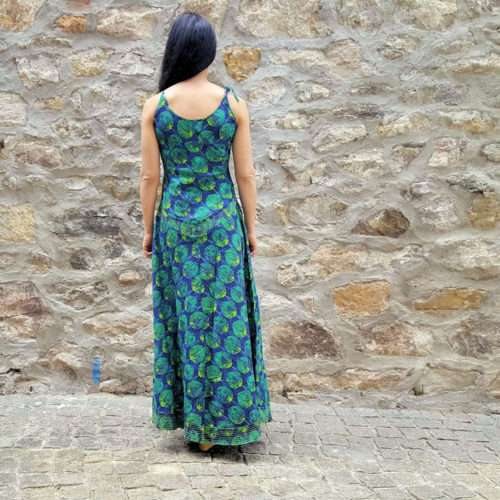 Robe Kali-Yog Soul longue, Pumpkin blue, www.LaTribu.shop (3)