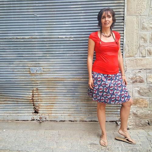 Jupe Kali-Yog réversible Pani, Spider red-Black, www.LaTribu.shop (1)