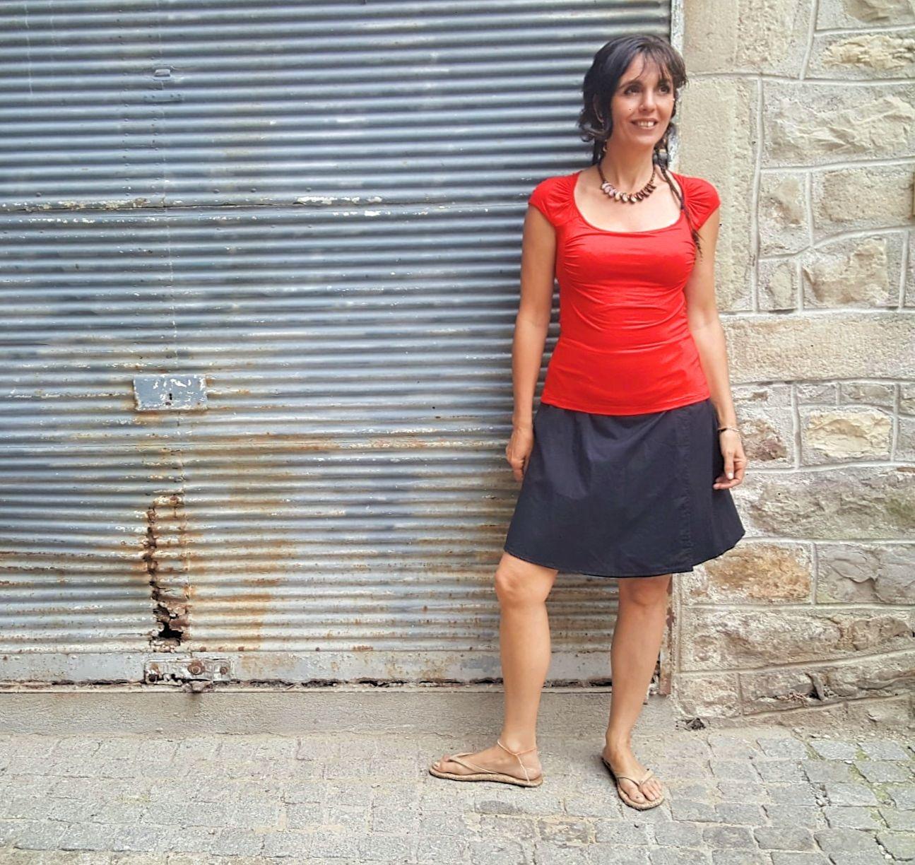 Jupe Kali-Yog réversible Pani, Spider red-Black, www.LaTribu.shop (3)