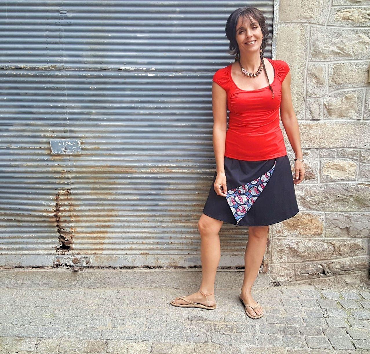 Jupe Kali-Yog réversible Pani, Spider red-Black, www.LaTribu.shop (4)