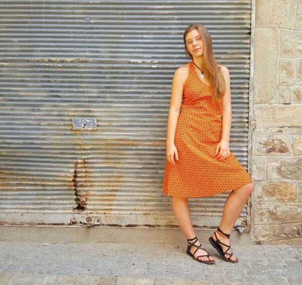 Robe Bla-Bla Pénélope, Clam Orange, www.LaTribu.shop (1)