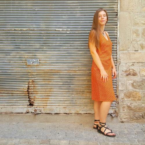 Robe Bla-Bla Pénélope, Clam Orange, www.LaTribu.shop (2)