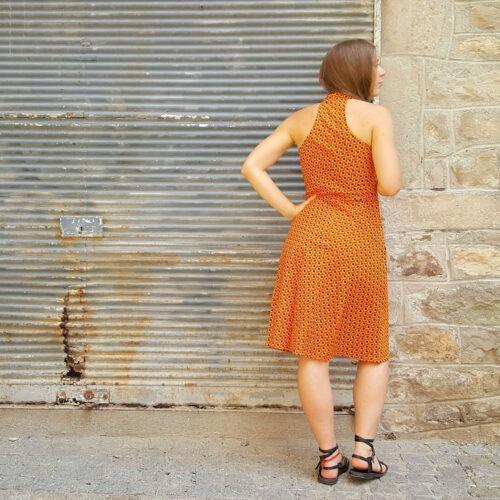 Robe Bla-Bla Pénélope, Clam Orange, www.LaTribu.shop (3)