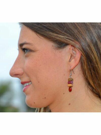 Boucles d'oreilles Dona, multibois, www.LaTribu.shop (2)