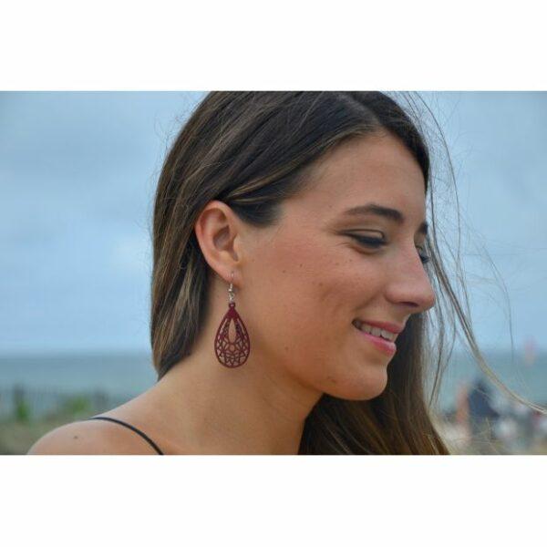 Boucles d'oreilles Eva, amarante, www.LaTribu.shop (3)