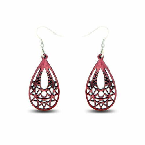 Boucles d'oreilles Eva, amarante, www.LaTribu.shop